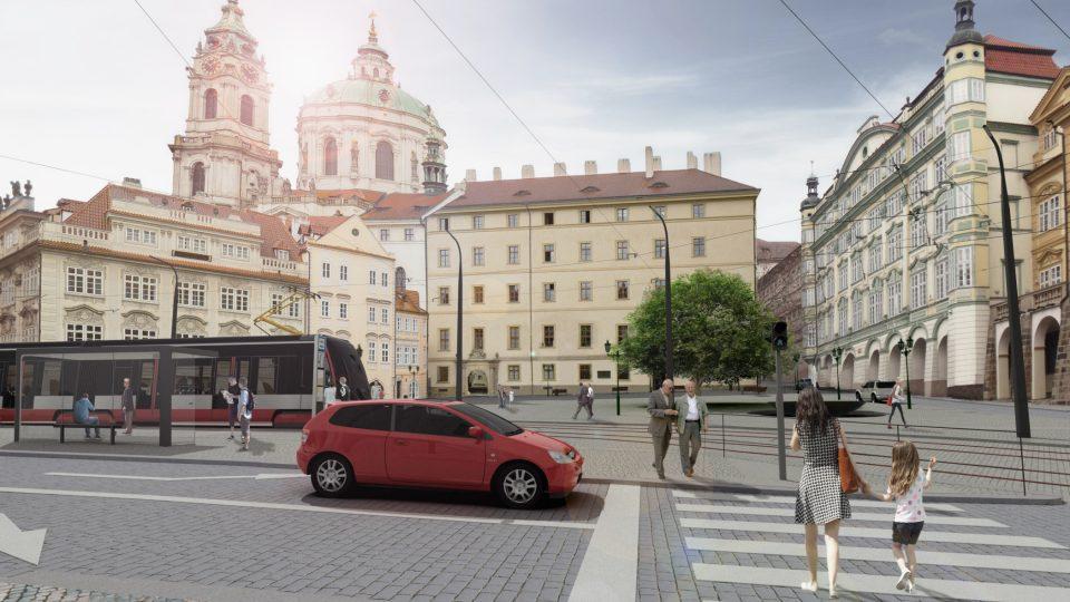 Vizualizace Malostranského náměstí